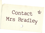 Ask Mrs Bradley